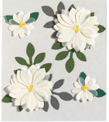 Vanilla Flowers  Stickers - Jolee's Boutique
