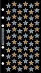 Golden Silver Stars Sticko Stickers