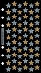 Golden Silver Stars Sticko Stickers