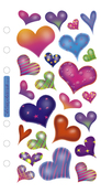 Sparkle Hearts Sticko Stickers