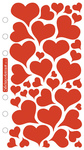 Foil Hearts Sticko Stickers