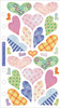 Vellum Pastel Hearts Sticko Stickers