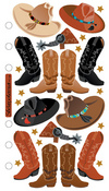 Cowboy Hats/Boots Sticko Stickers