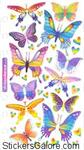 Foil Butterflies Sticko Stickers