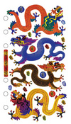 Asian Dragons Sticko Stickers