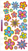 Vellum Flowers Sticko Stickers