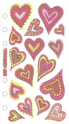 Vellum Hearts Sticko Stickers
