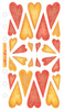 Red & Orange Hearts Sticko Stickers