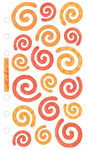 Red/Orange Swirls Sticko Stickers