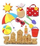 Fun At The Beach  Stickers - Jolee's Boutique