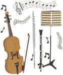 Musical Trio  Stickers - Jolee's Boutique