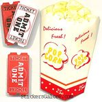 Movie Popcorn  3-D Stickers - Jolee's By You