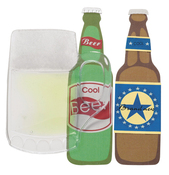 Beer  3-D Stickers - Jolee's By You