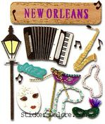 New Orleans  Stickers - Jolee's Boutique