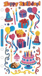 Foil Birthday Party Sticko Stickers