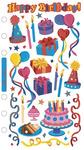 Foil Birthday Party Sticko Stickers