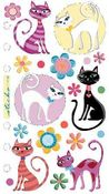 Vellum Krazy Kitties Sticko Stickers