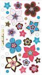 Vellum Retro Flower Works Sticko Stickers
