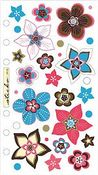 Vellum Retro Flower Works Sticko Stickers