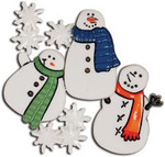 Brrr! Snowmen And Snowflakes Buttons - Favorite Findings - Blumenthal Lansing