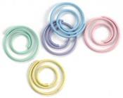Pastel Mini Spiral Clips