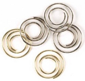 Gold & Silver Mini Spiral Clips, 7/8""