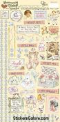 Baby Girl Vintage Stickers