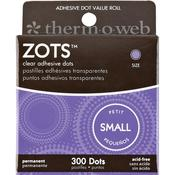 Zots Clear Adhesive Dots Small 300/pkg - Therm O Web