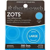 Zots Clear Dots Large, 300/pkg