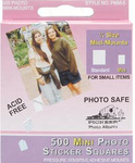 Pioneer White Mini Photo Sticker Squares