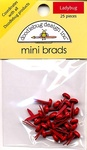 Ladybug Mini Brads by Doodlebug