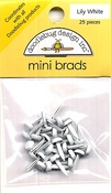 Lily White Mini Brads by Doodlebug
