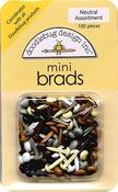 Neutral Asst. Mini Brads by Doodlebug