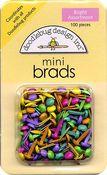 Bright Asst. Mini Brads by Doodlebug
