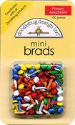 Primary Assorted Mini Brads by Doodlebug