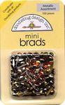Metallic Asst. Mini Brads by Doodlebug