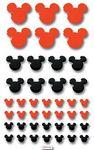 Red/ Black Mickey Tiles Disney Stickers - EK Success