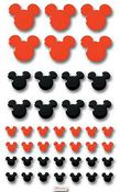Red/ Black Mickey Tiles Disney Stickers - EK Success