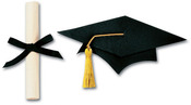 Large Grad Cap & Scroll  3-D Stickers - Jolee's By You