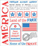 America Say It Stickers