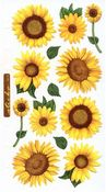 Vellum Sunflowers Sticko Stickers