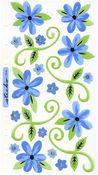 Mini Romantic Flowers Foil Stickers