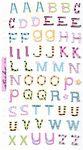 Adorable Alphabets Upper Foil Stickers