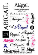 Abigail Name Stickers