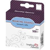 3L White Mounting Squares 500