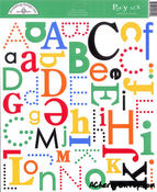Primary Party Mix Alpha Stickers by Doodlebug