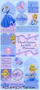 Cinderella Matte Stickers