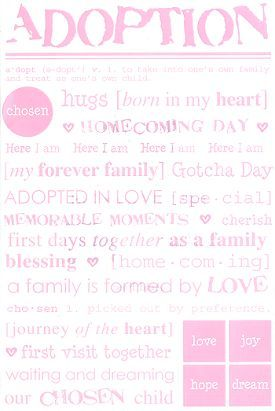 Adoption Girl Stickers
