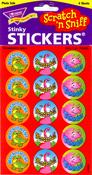 Dino Fun - Strawberry Scratch n Sniff Stickers
