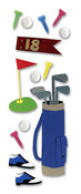 Golfing  3-D Stickers - Jolee's By You